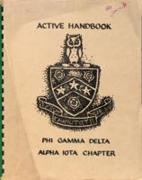 1970 Chapter Member Handbook for the Alpha Iota Chapter at Iowa State University...
