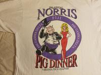1992 Virginia Tech 20th Anniversary Pig Dinner T-Shirt (back)