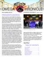 2016 Spring Newsletter Omega Chi (Chapman University)