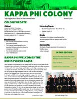 2016 Winter Newsletter Kappa Phi (University of South Florida)