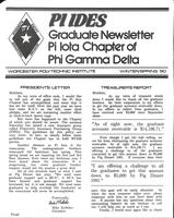 1990 Newsletter Pi Iota (Worcester Polytechnic Institute)
