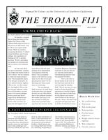 2010 Fall Newsletter Sigma Chi (University of Southern California)