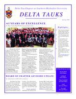 2010 Spring Newsletter Delta Tau (Southern Methodist University)
