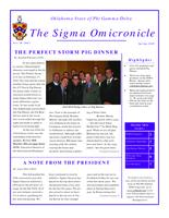 2010 Spring Newsletter Sigma Omicron (Oklahoma State University)