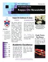2011 February Newsletter Kappa Chi (William Woods University)