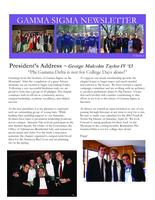 2012 Spring Newsletter Gamma Sigma (The University of the South Sewanee)