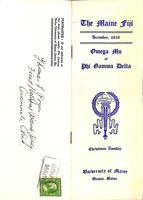 1910 December Newsletter Omega Mu (University of Maine)