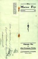 1911 November Newsletter Omega Mu (University of Maine)