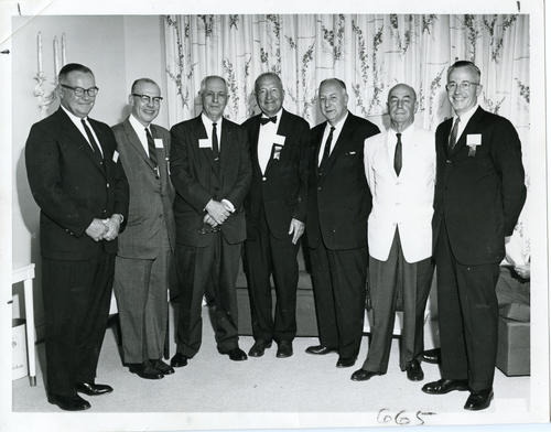 Group of men at 1960 Ekklesia. The 112th Ekklesia was held in Washington, DC at the Shoreham Hotel, on August 24-27, 1960. There were 605 Brothers registered for the 112th Ekklesia.
