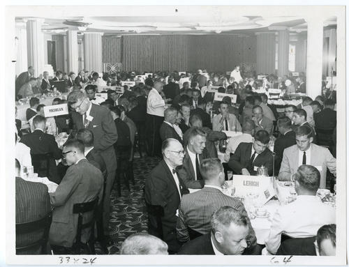 Brothers eating at the 1960 Ekklesia (Front). The 112th Ekklesia was held in Washington, DC at the Shoreham Hotel, on August 24-27, 1960. There were 605 Brothers registered for the 112th Ekklesia.