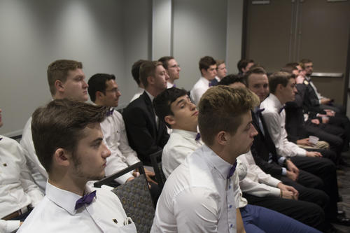 Nu Iota Chartering at Illinois State University held on September 23, 2017.  Chartering was held at the Radisson Hotel in Normal, Illinois.  Approximately 65 men were initiated during the weekend.  The legate was Rick Gilman (Michigan State University 1970).