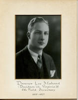 Field Secretary 006 - Danner Lee Mahood (Davidson College 1922, University of...