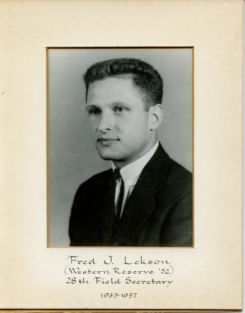 Fred J. Lekson (Case Western Reserve University 1952) served as field secretary from 1955 through 1957. Brother Lekson is designated ROTPS number 28.