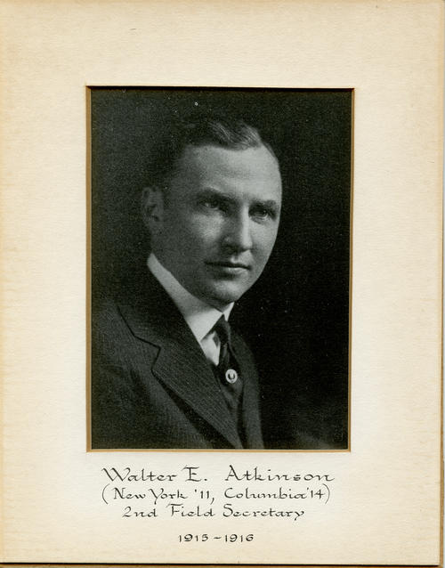 Walter E. Atkinson (New York University 1911, Columbia University 1914) served as field secretary from 1915 through 1916. Brother Atkinson is designated ROTPS number 2.