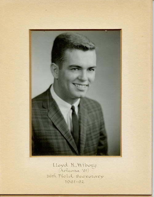 Lloyd H. Wiborg (Univeristy of Arizona 1961) served as field secretary from 1961 through 1962. Brother Wiborg is designated ROTPS number 36.