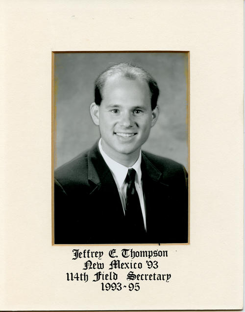 Jeffrey E. Thompson (University of New Mexico 1993) served as field secretary from 1993 through 1995. Brother Thompson is designated ROTPS number 114.