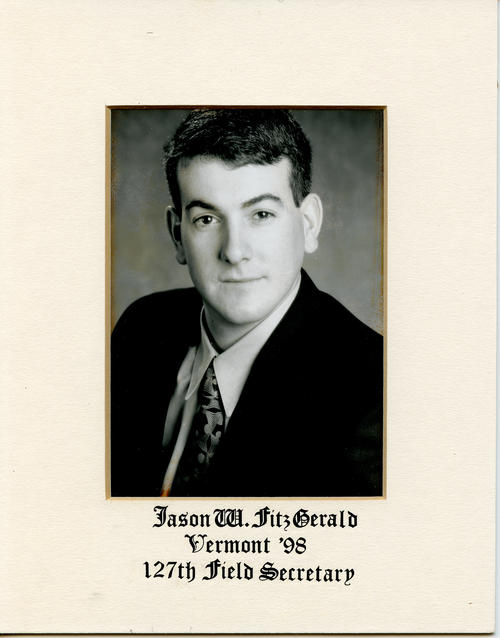 Jason W. Fitzgerald (University of Vermont 1998) served as field secretary from 1999 through 2000. Brother Fitzgerald is designated ROTPS number 127.