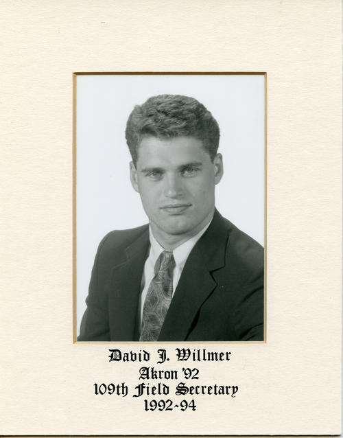 David J. Willmer (University of Akron 1992) served as field secretary from 1991 through 1993. Brother Willmer is designated ROTPS number 109. Additional Service to Phi Gamma Delta includes Headquarters Staff.