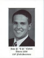 """Field Secretary 150 - John P. """"J.P."""" Chibuk (University of Alberta 2006)"""
