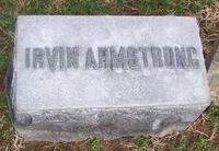 1862 - Irvin Armstrong (DePauw University 1862) Tombstone