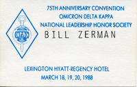 Bill Zerman (University of Michigan 1949) Name Tag