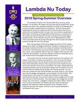 2018 Summer Newsletter Lambda Nu (University of Nebraska)