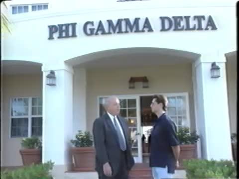2001 Dedication of the R. Kirk Landon (Georgia Tech 1950) Phi Gamma Delta House...