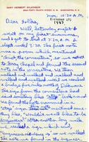1947-10-27 Gary Wilkinson (Ohio Wesleyan University 1951) Letter