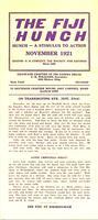 1921 November Newsletter Xi Deuteron (Case Western Reserve University)