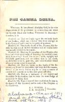 1885 Death Announcement for Theodore G. Pearce (University of Alabama 1857)