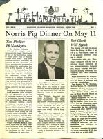 1958 April Newsletter Tau (Hanover College)