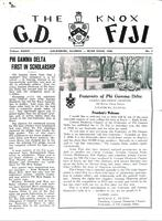 1958 Rush Issue Newsletter Gamma Deuteron (Knox College)
