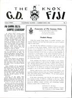 1958 Summer Newsletter Gamma Deuteron (Knox College)