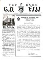 1959 Rush Issue Newsletter Gamma Deuteron (Knox College)
