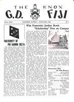 1960 Rush Issue Newsletter Gamma Deuteron (Knox College)