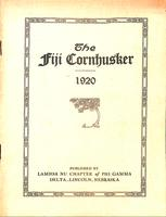 1920 Newsletter Lambda Nu (University of Nebraska)