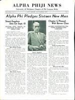 1935 November Newsletter Alpha Phi (University of Michigan)