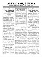 1936 March Newsletter Alpha Phi (University of Michigan)