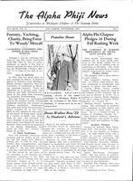 1936 November Newsletter Alpha Phi (University of Michigan)
