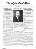 1937 March Newsletter Alpha Phi (University of Michigan)