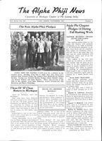1937 November Newsletter Alpha Phi (University of Michigan)