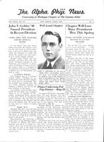 1939 April Newsletter Alpha Phi (University of Michigan)