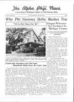 1940 Summer Newsletter Alpha Phi (University of Michigan)