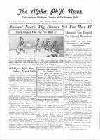 1941 April Newsletter Alpha Phi (University of Michigan)