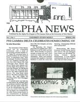 1990 Spring Newsletter Alpha Nu (University of New Mexico)