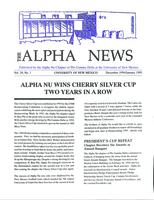 1994-1995 Winter Newsletter Alpha Nu (University of New Mexico)