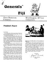 1980 Fall Newsletter Zeta Deuteron (Washington & Lee University)