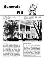 1982 Spring Newsletter Zeta Deuteron (Washington & Lee University)