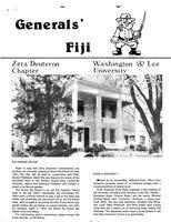 1983 Spring Newsletter Zeta Deuteron (Washington & Lee University)