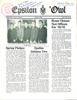 1960 March Newsletter Epsilon (University of North Carolina)